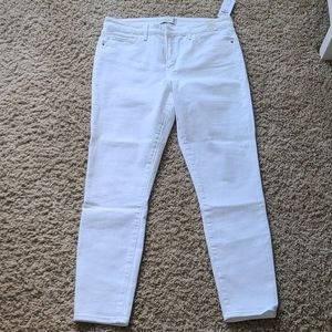 NWT Abercrombie super skinny white denim jean 10 s